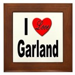 I Love Garland Framed Tile