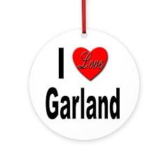 I Love Garland Ornament (Round)
