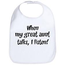 I listen to great aunt Bib