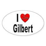 I Love Gilbert Oval Sticker (10 pk)