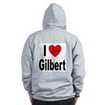 I Love Gilbert (Back) Zip Hoodie