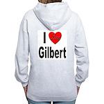 I Love Gilbert (Back) Women's Zip Hoodie