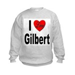 I Love Gilbert (Front) Kids Sweatshirt
