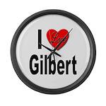 I Love Gilbert Large Wall Clock