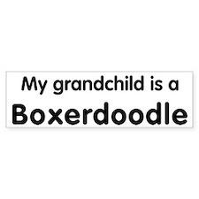 Boxerdoodle grandchild Bumper Bumper Sticker