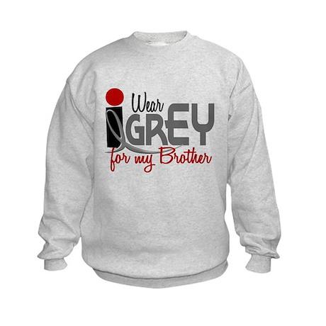 I Wear Grey For My Brother 32 Kids Sweatshirt