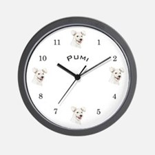 Wall Clock with Pumi dog
