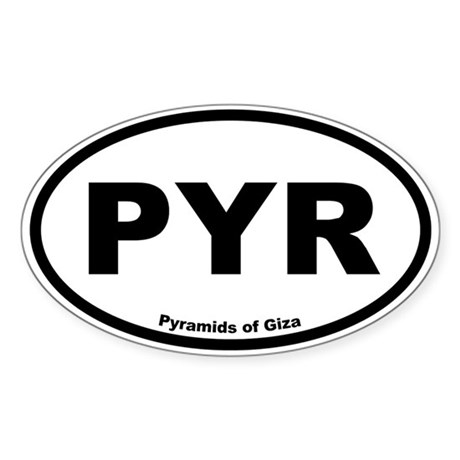 Pyramids of Giza Oval Sticker