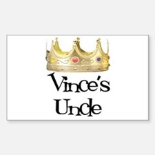 Vince's Uncle Rectangle Decal