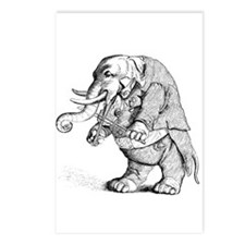 Elephant with Tail Coat Postcards (Package of 8)