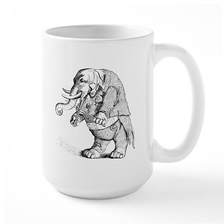 Elephant with Tail Coat Large Mug