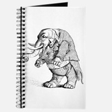 Elephant with Tail Coat Journal