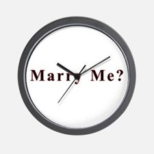 Simple Marry Me Wall Clock