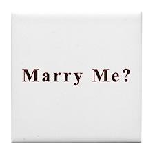 Simple Marry Me Tile Coaster