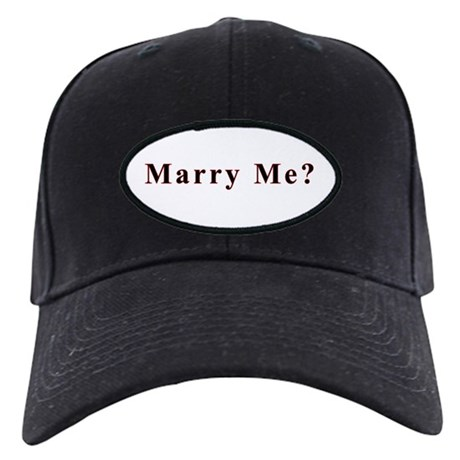Simple Marry Me Black Cap