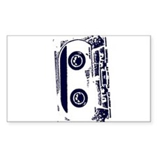 Cassette Tape Rectangle Decal