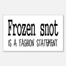 Frozen snot Sticker (Rectangle)