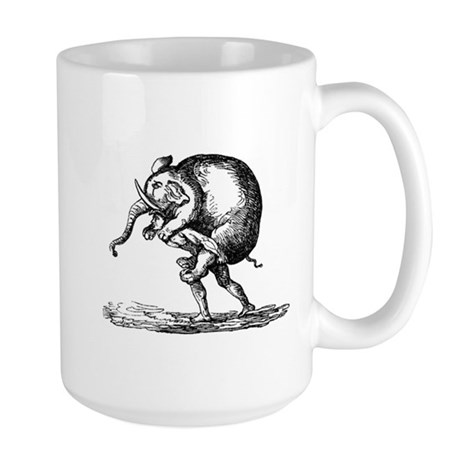 Elephant Carry Large Mug