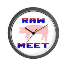 Raw Meet Wall Clock