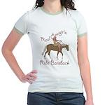 Real Cowgirls Ride Bareback Jr. Ringer T-Shirt
