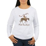 Real Cowgirls Ride Bareback Women's Long Sleeve T-