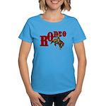 Vintage Rodeo Bronc Rider Women's Dark T-Shirt