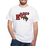 Vintage Rodeo Bronc Rider White T-Shirt