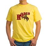 Vintage Rodeo Bronc Rider Yellow T-Shirt