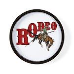 Vintage Rodeo Bronc Rider Wall Clock