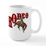 Vintage Rodeo Bronc Rider Large Mug