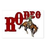 Vintage Rodeo Bronc Rider Postcards (Package of 8)