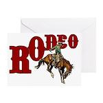Vintage Rodeo Bronc Rider Greeting Card