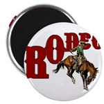 Vintage Rodeo Bronc Rider Magnet