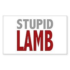 Stupid Lamb Too Twilight Dialog Tag Line Decal