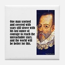 "Cervantes ""One Man"" Tile Coaster"