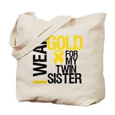 I Wear Gold Twin Sister Tote Bag
