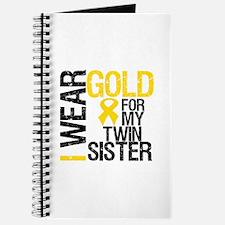 I Wear Gold Twin Sister Journal