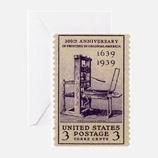 Printing Press Greeting Cards (Pk of 20)