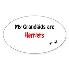 Harrier Grandkids Oval Decal