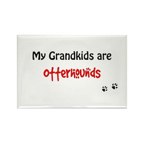Otterhound Grandkids Rectangle Magnet