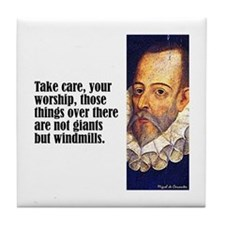 "Cervantes ""Windmills"" Tile Coaster"