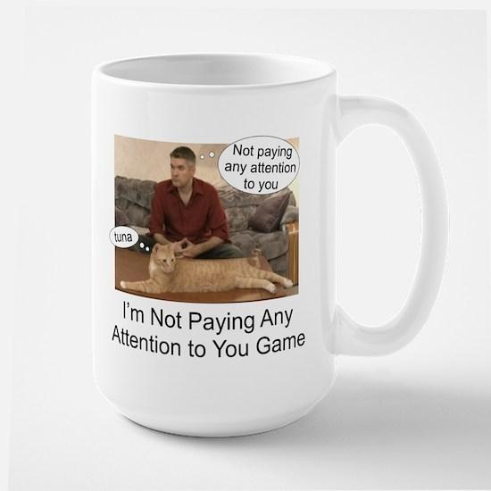 Not paying attention Large Mug