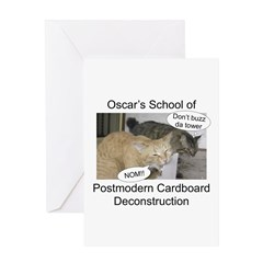 Postmodern Cardboard Deconstr Greeting Card