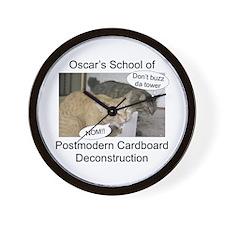 Postmodern Cardboard Deconstr Wall Clock