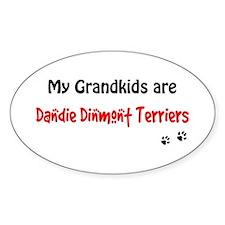Dandie Grandkids Oval Decal