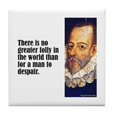 "Cervantes ""Greater Folly"" Tile Coaster"
