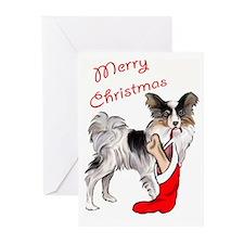 christmas Papillon Greeting Cards (Pk of 20)