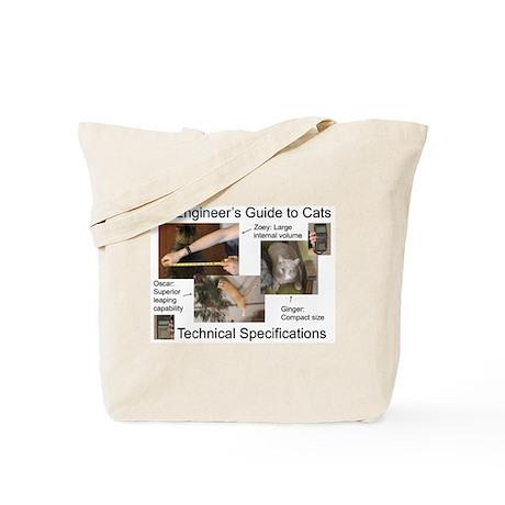 Cat Technical Specs. Tote Bag