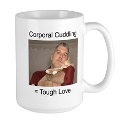 Corporal Cuddling = Tough Lov Large Mug