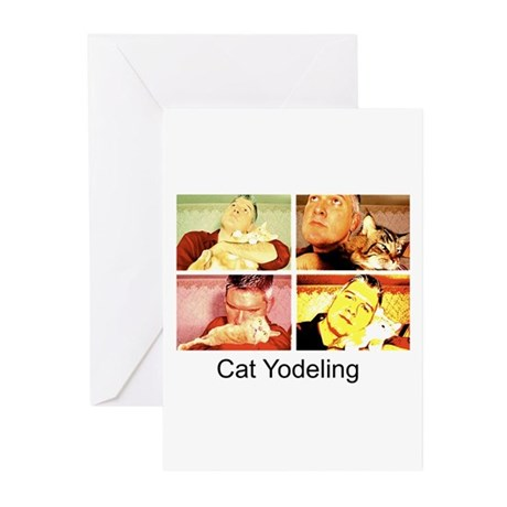 Cat Yodeling Greeting Cards (Pk of 10)